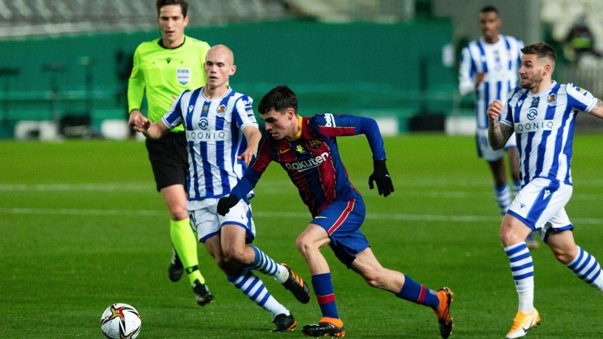 Pedri volvió a ser titular con el Barcelona.