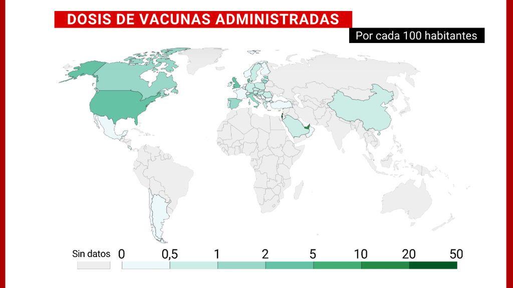 España, tercer país de la Unión Europea en vacunación pero con una enorme desigualdad entre regiones