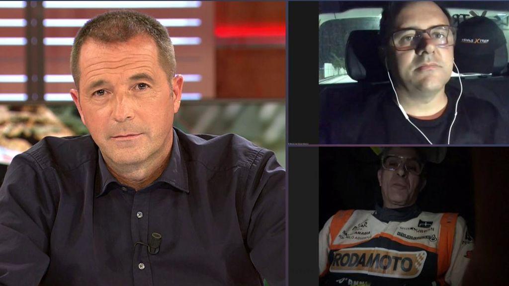 Un piloto deja abandonado al copiloto en plena etapa del Dakar y se encuentran en Deportes Cuatro