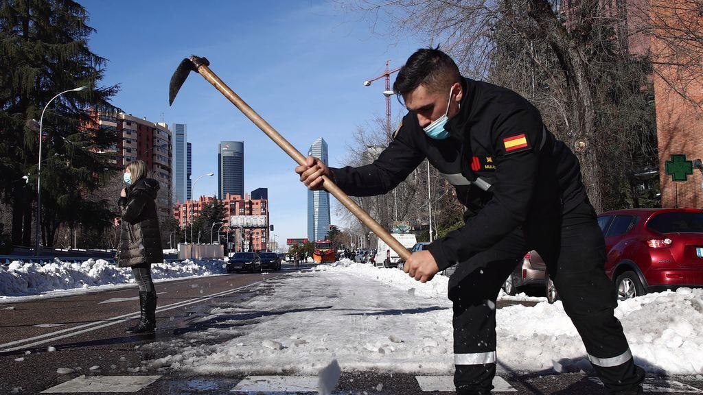 Las lluvias previstas para la próxima semana ayudarán a fundir la nieve que persiste tras Filomena