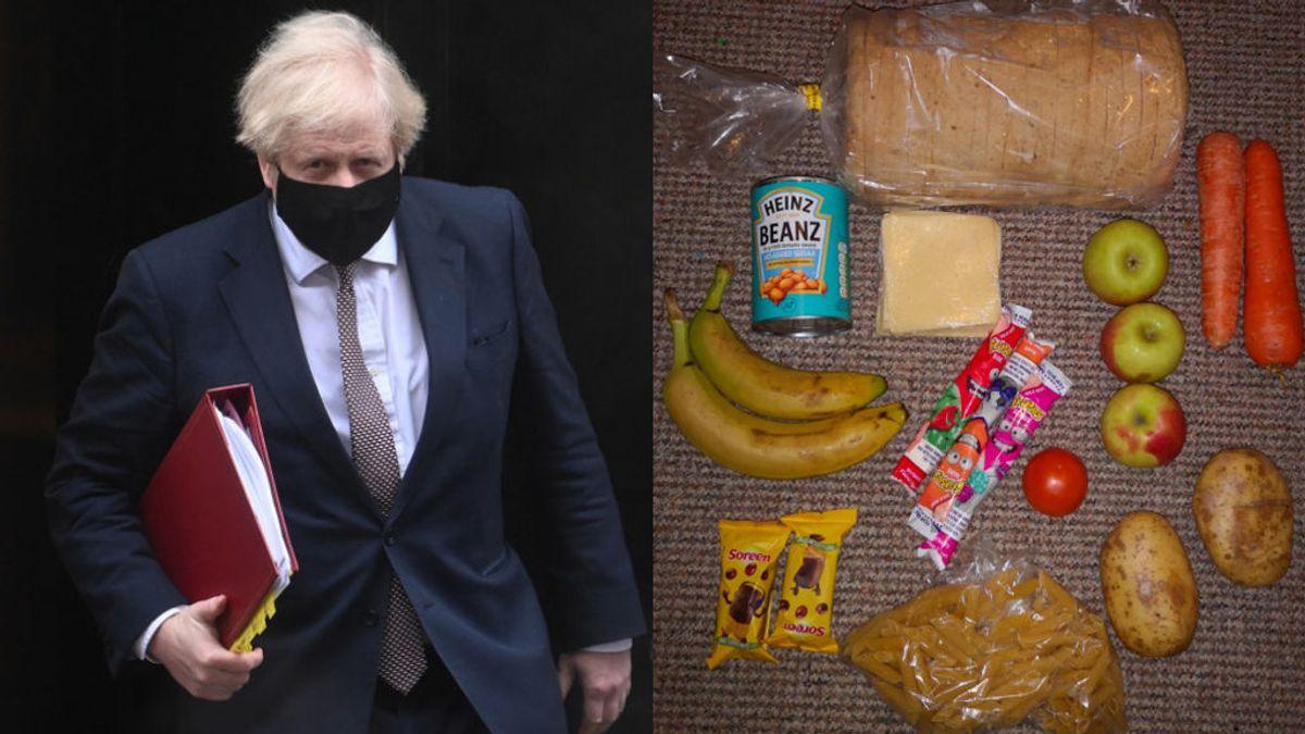 El Gobierno de Boris Johnson, avergonzado por las fotos del menú escolar gratuito