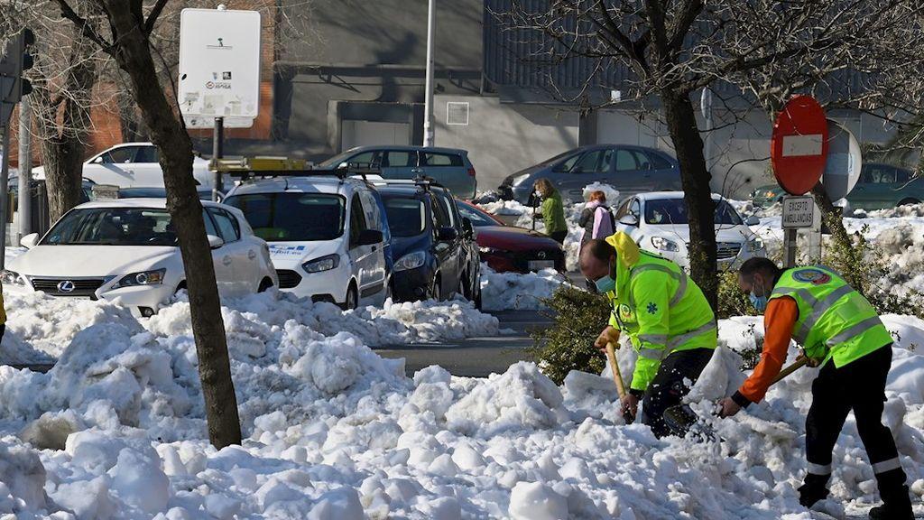 Madrid, lejos de la normalidad una semana después de la nevada
