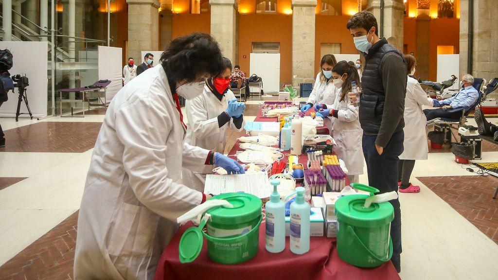 La Comunidad de Madrid dobla su objetivo de donación de sangre con más de 6.500 bolsas en tres días