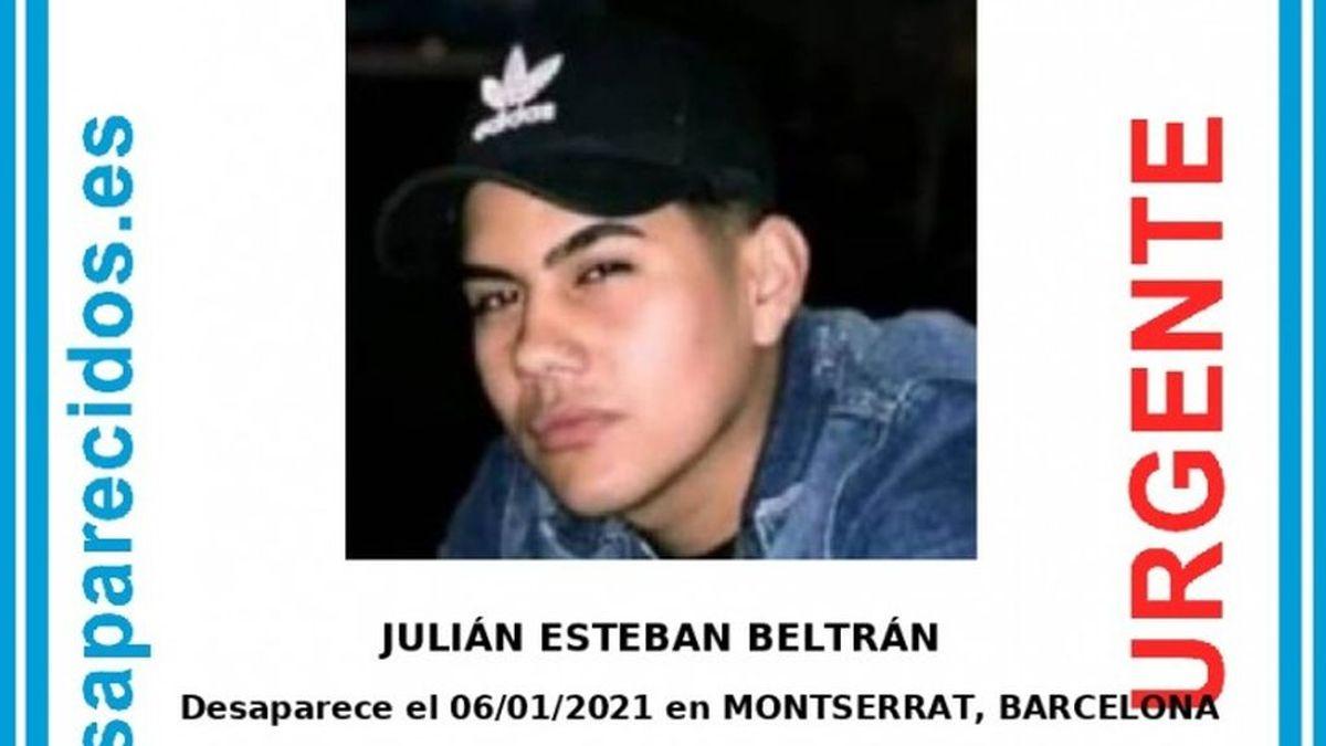 Buscan a Julián Esteban Beltrán, un joven desaparecido en Barcelona tras salir de una fiesta el pasado día 6