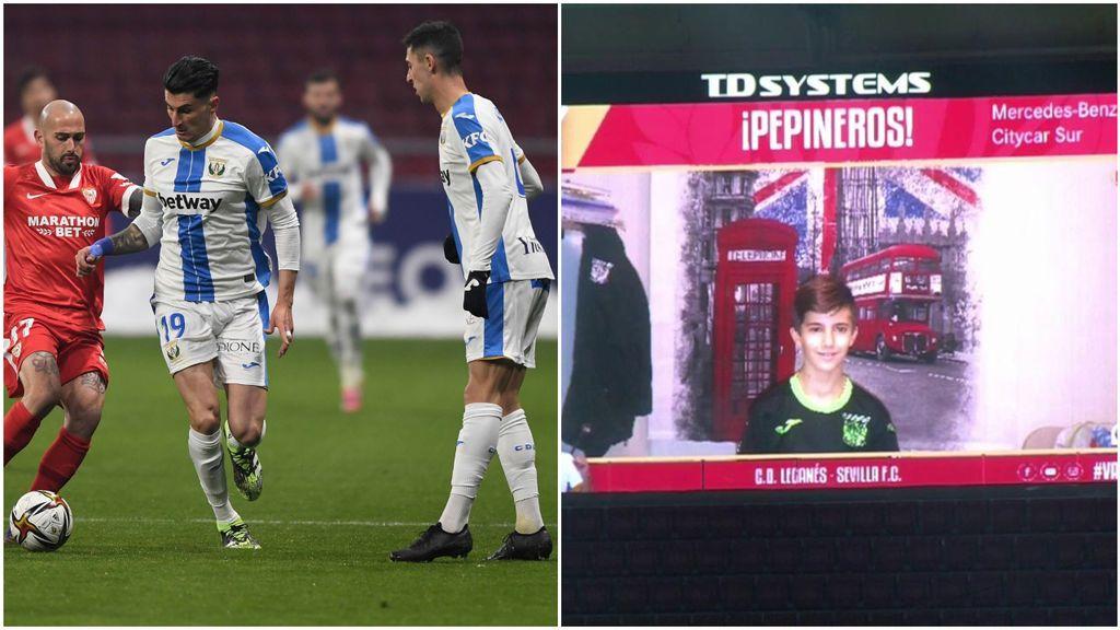 El gran detalle del Leganés para animar a sus jugadores durante el partido contra el Sevilla