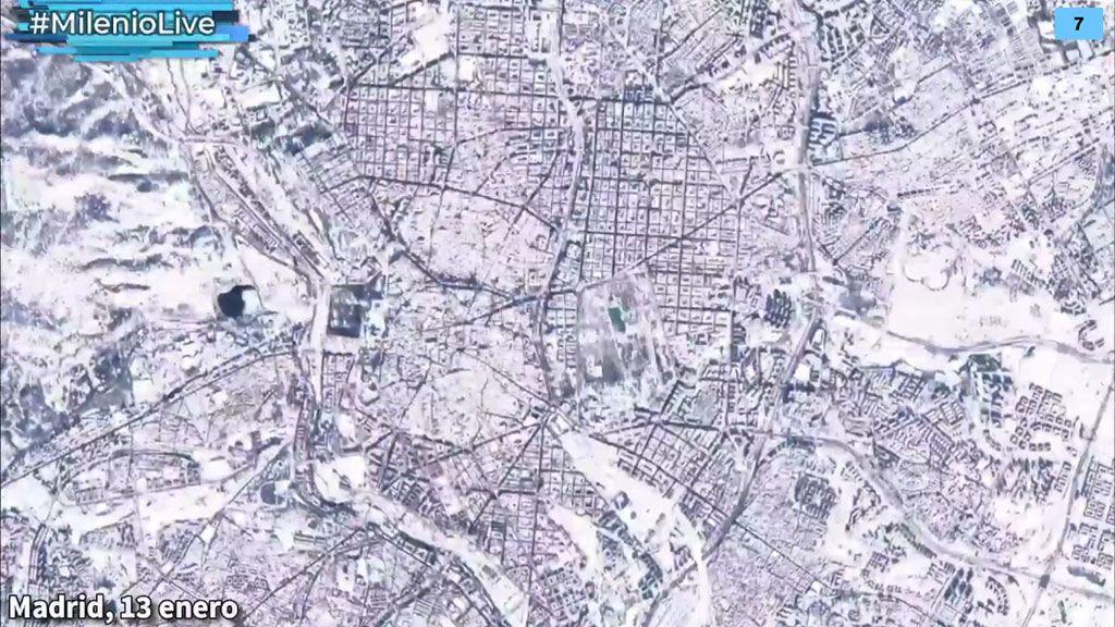 Foto a foto: la histórica nevada Filomena, ¡vista desde el espacio!