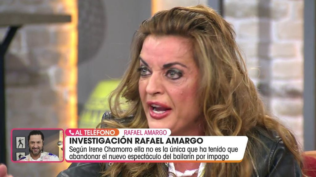 Rafael Amargo entra en directo hecho una furia y desmiente a una de sus artistas que le acusa de no pagarle