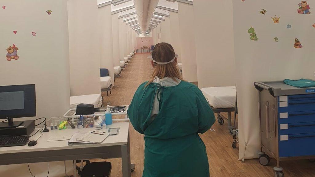 El hospital de campaña de Alicante recibe a los primeros pacientes con Covid para aliviar la presión hospitalaria