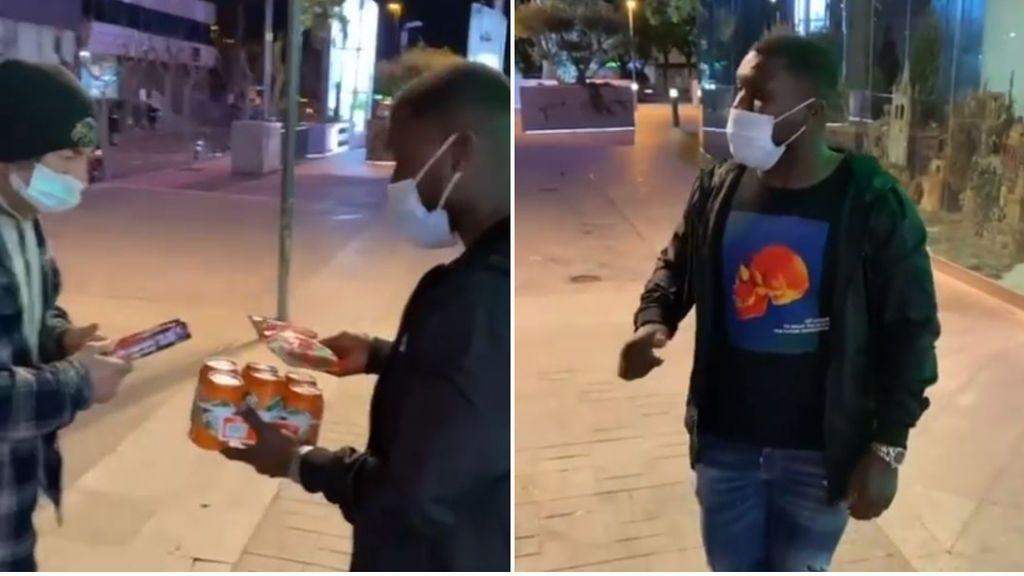 El gran detalle de Drenthe en su vuelta a España: entra a un supermercado para comprarle comida a un sintecho