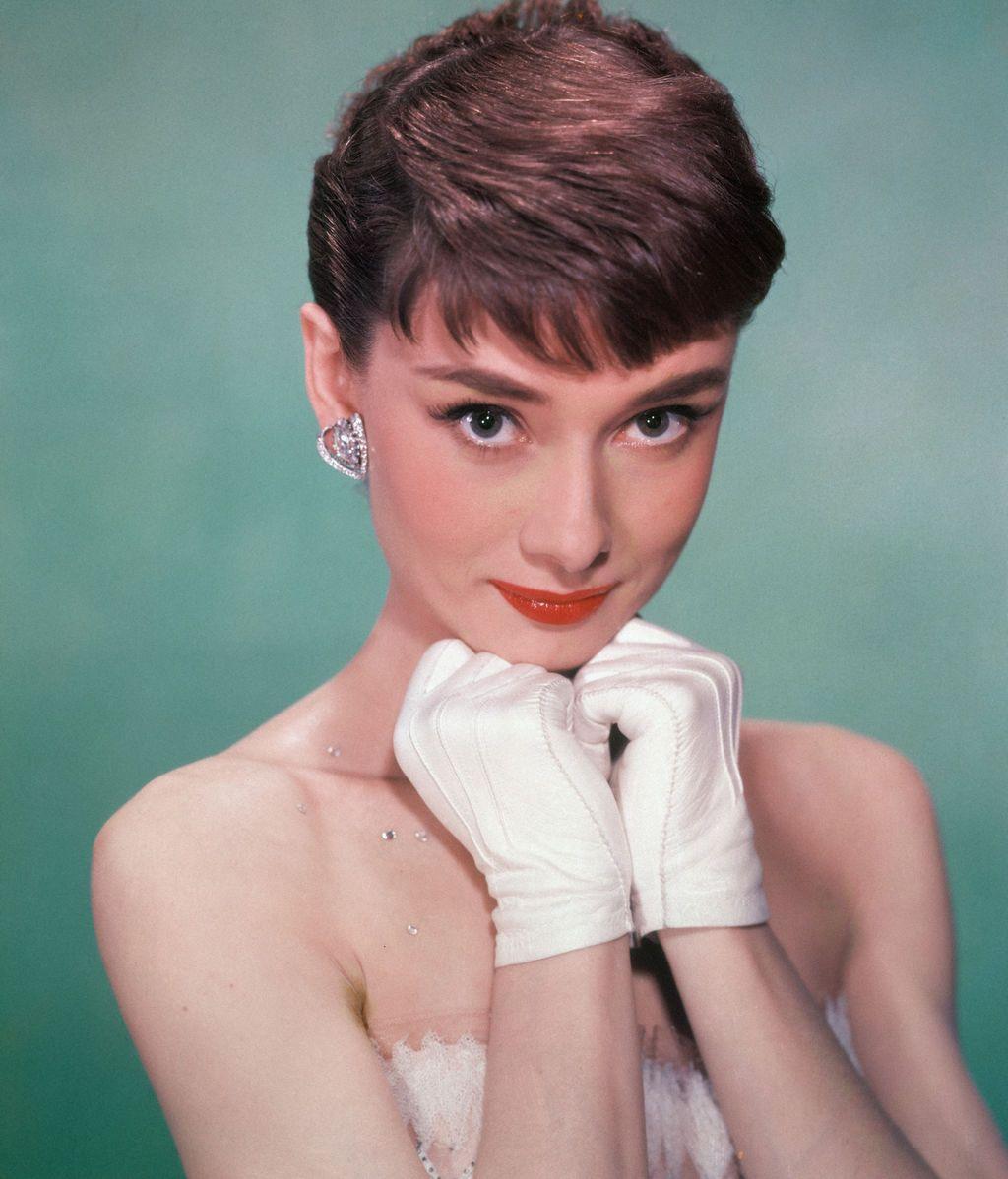 Audrey Hepburn, en un posado de 1950, con 21 años