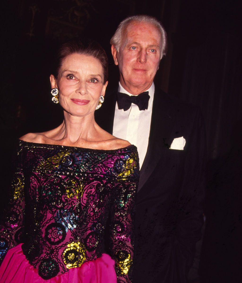 Audrey Hepburn con el diseñador francés, Hubert de Givenchy