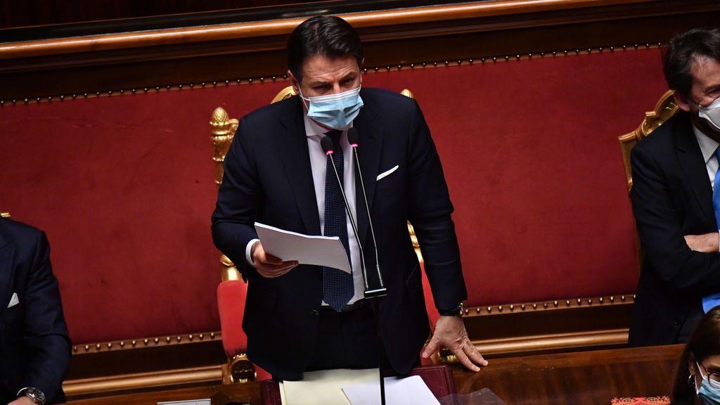 Conte pide el voto en el Senado e Italia se encamina a un Gobierno en minoría
