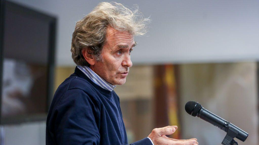 Fernando Simón durante una rueda de prensa