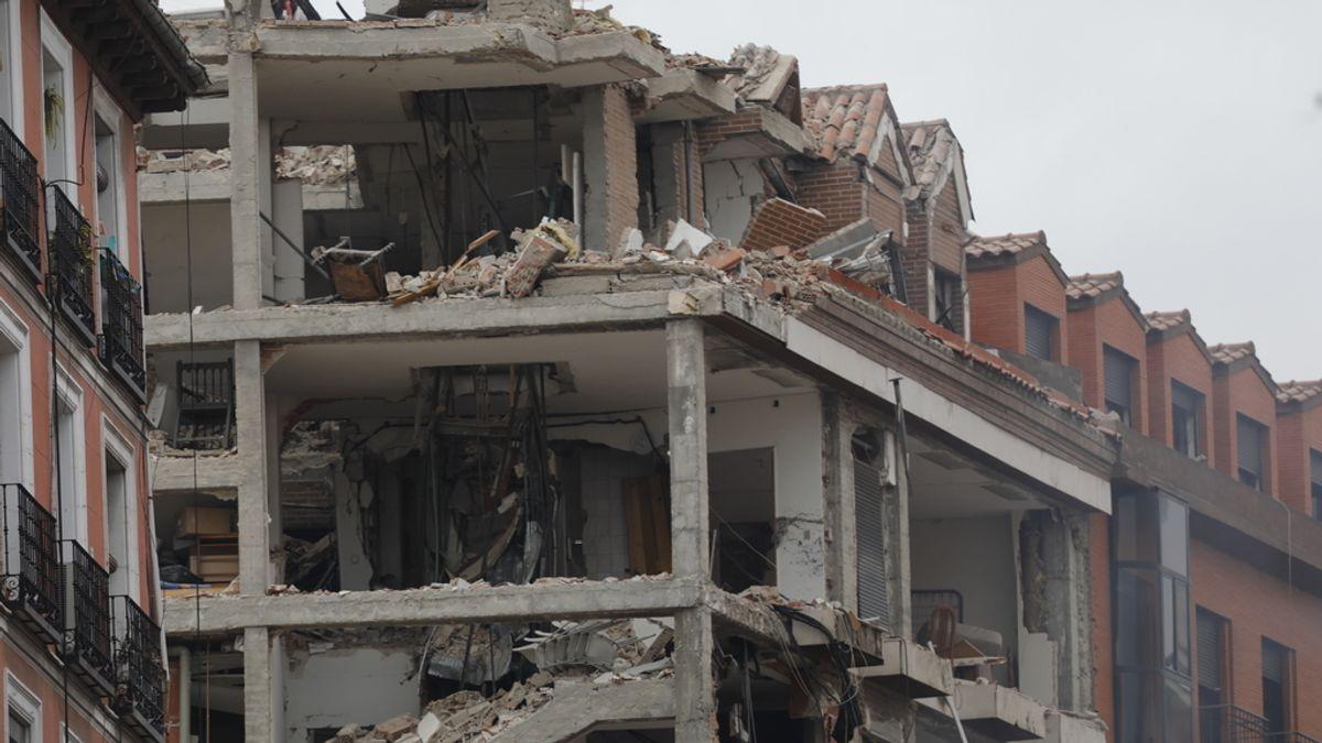 Explosión en un edificio de la calle Toledo de Madrid