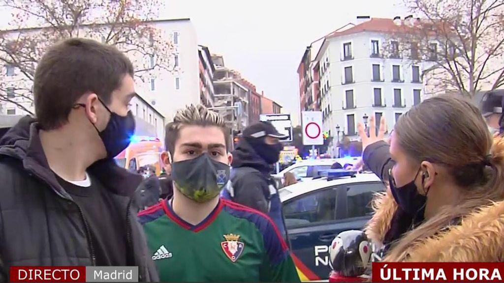 """Dos testigos directos de la explosión en el centro de Madrid: """"Hemos visto que las paredes se movían"""""""
