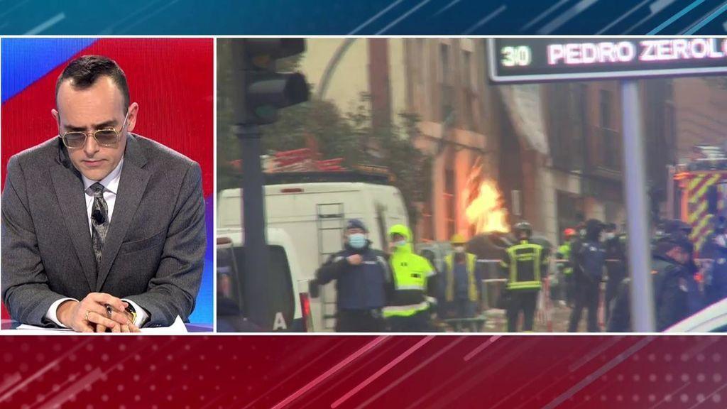 """lola, vecina desalojada por la explosión en Madrid: """"Se nos cayó la pared"""""""