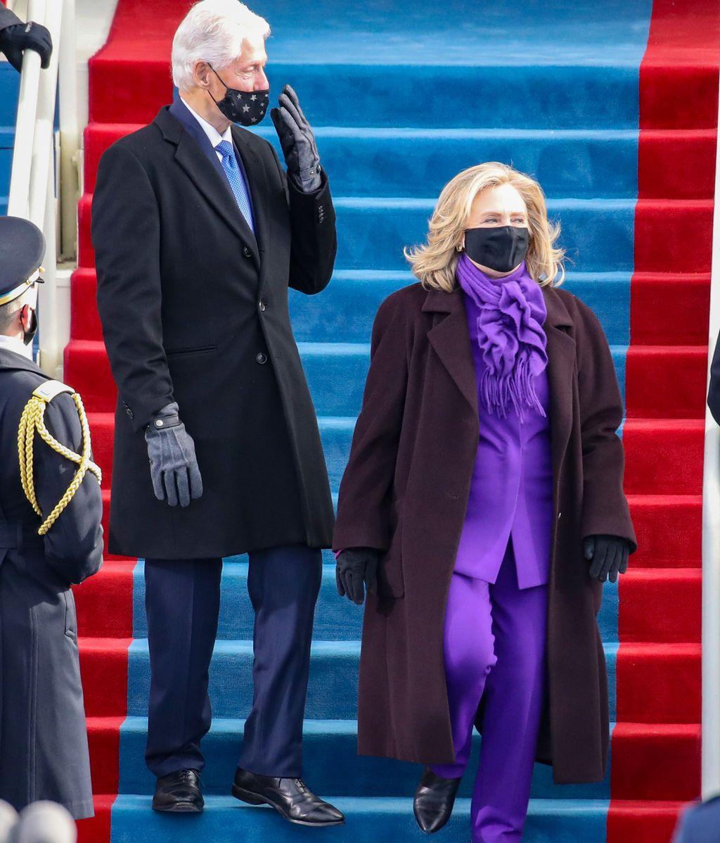 Bill y Hillary Clinton en la toma de posesión de Joe Biden