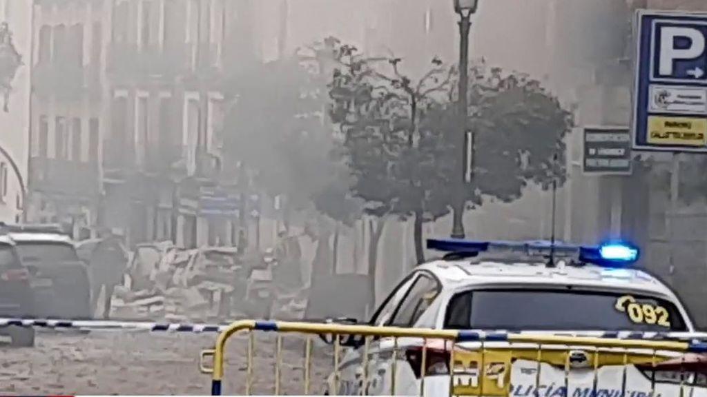 Tres fallecidos en una enorme explosión en el centro de Madrid
