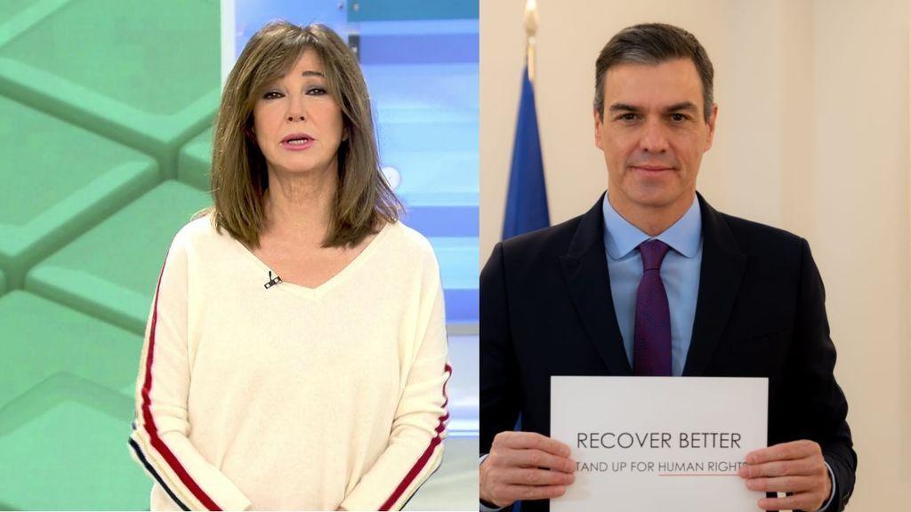 Ana Rosa contra la gestión de Sánchez con las vacunas