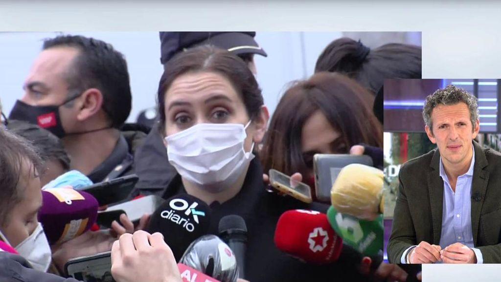 """Ayuso, consternada tras la explosión del centro de Madrid: """"El Ayuntamiento tiene toda la ayuda de la Comunidad"""""""