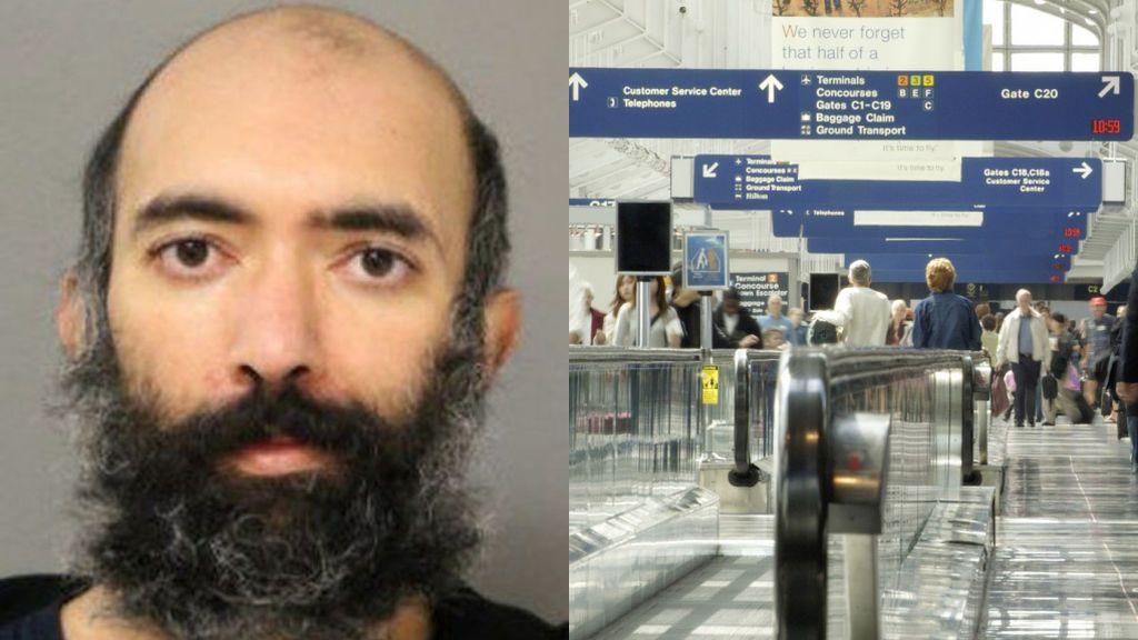 Encuentran a un hombre que llevaba meses viviendo en el aeropuerto de Chicago por miedo al coronavirus