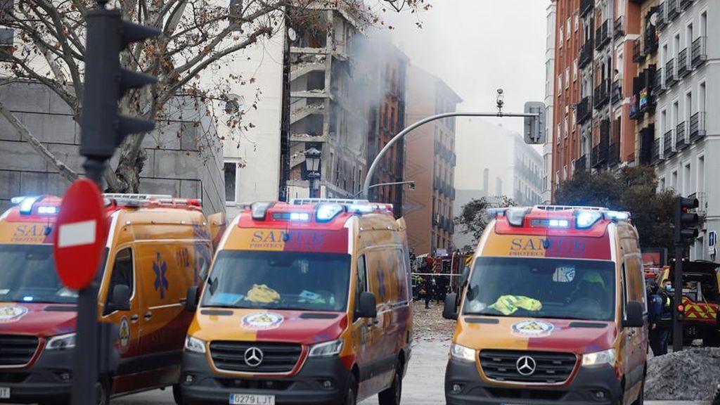 Explosión de gas en la calle Toledo en Madrid
