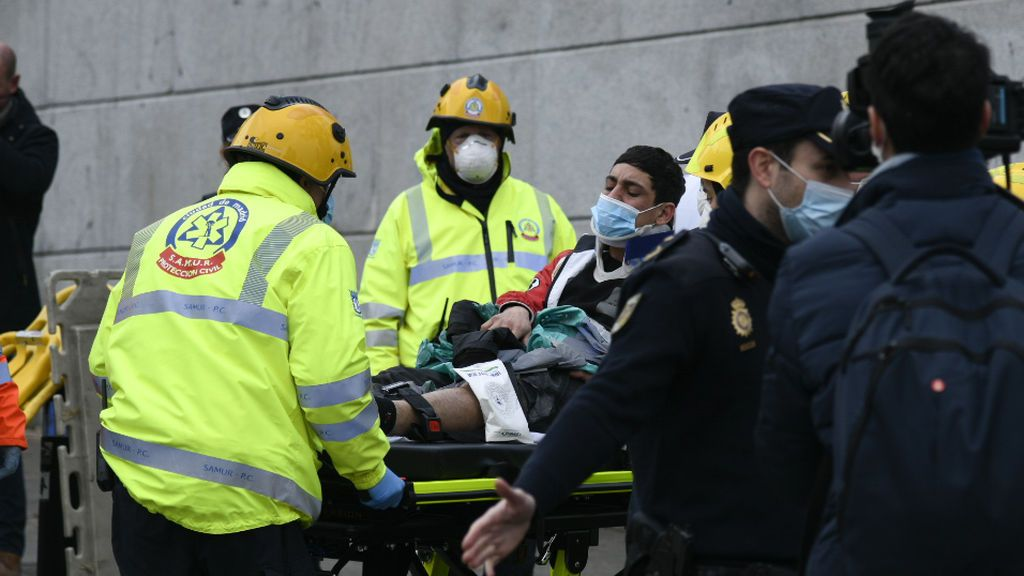 Las imágenes de la explosión de un edificio en Madrid