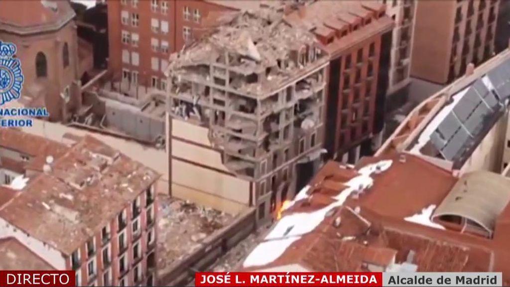 """Almeida, de la explosión de Madrid: """"Podría haber sido una tragedia infinitamente mayor"""""""
