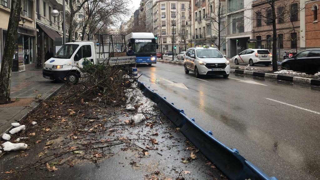 El más difícil todavía en Madrid con hora punta, nieve, colegios abiertos y ahora lluvia