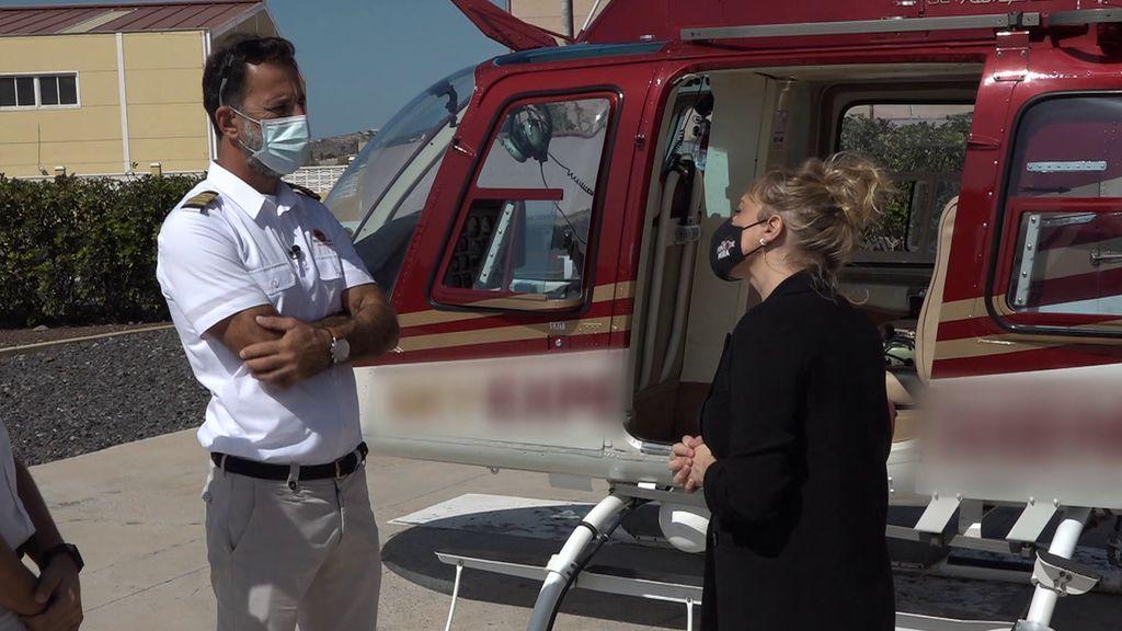Los millonarios se desplazan en helicóptero