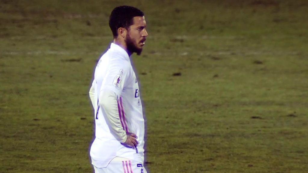 Los jugadores del Madrid estaban frustrados sobre el terreno de juego.
