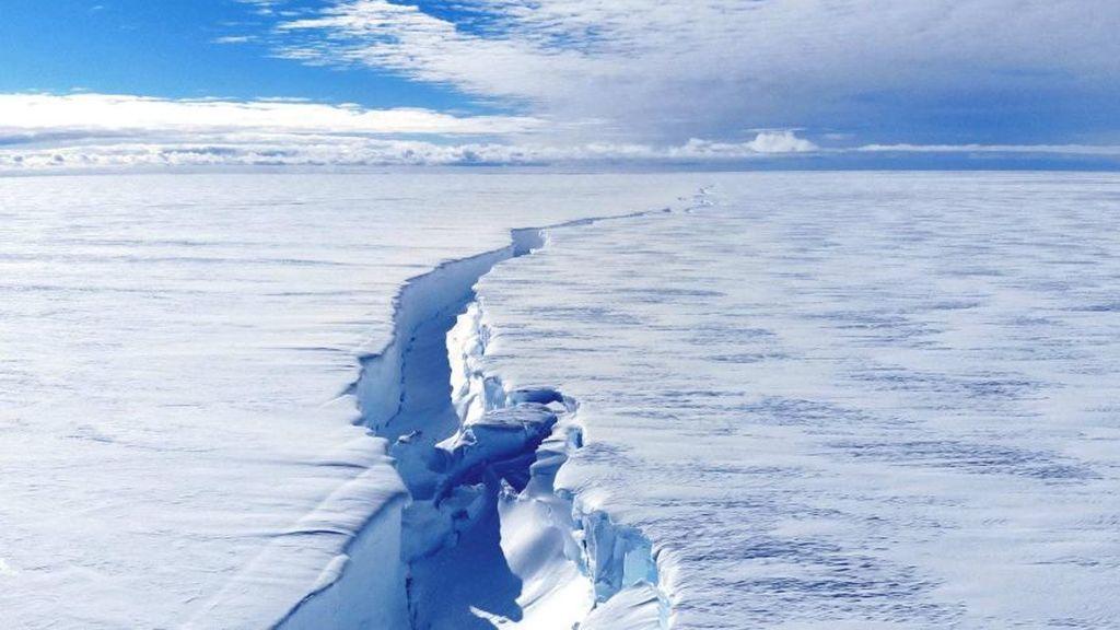 Una grieta en en la Antártida amenaza con crear un iceberg del doble del tamaño de Nueva York
