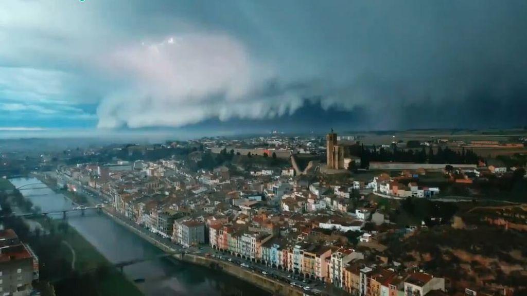 Imágenes de la tormenta sobre Balaguer