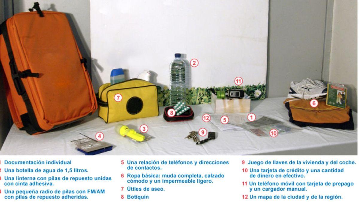 Desde tu documentación a un móvil prepago, en la mochila que propone Madrid en caso de evacuación