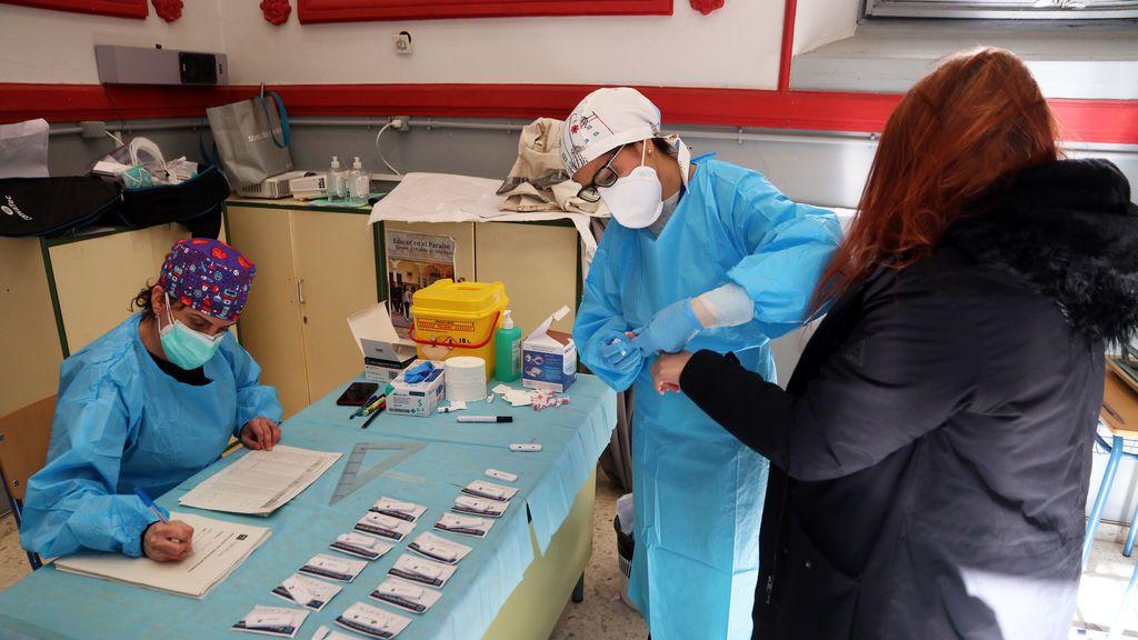 Cribado de coronavirus en Málaga