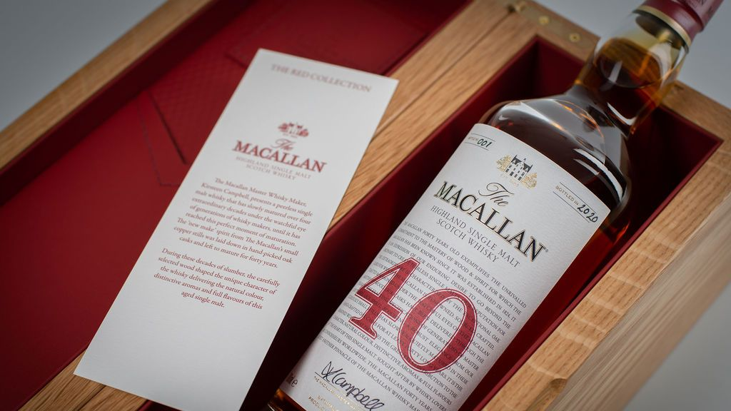 The Red Collection reúne los whiskies más antiguos de The Macallan.