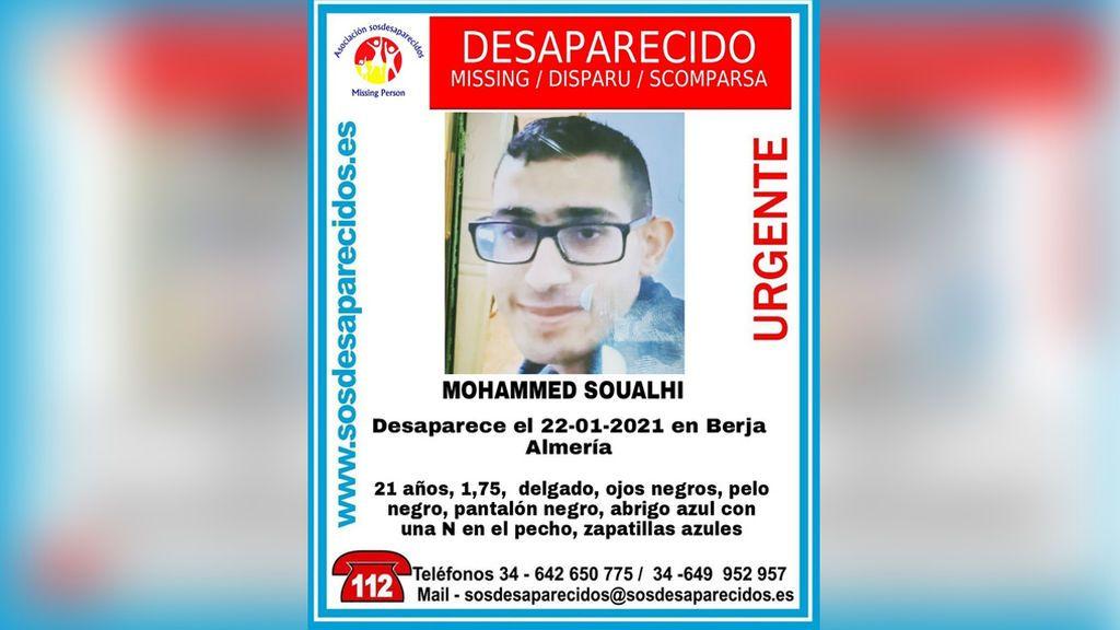 Buscan a Mohammed Soualhi, un joven de 21 años desaparecido en Berja