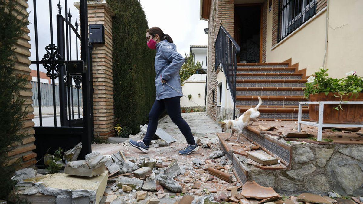 Estragos del terremoto de Granada en una vivienda