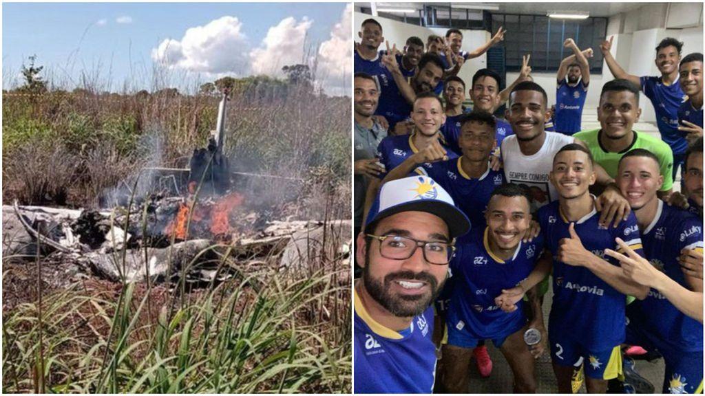 Un accidente aéreo se lleva la vida de cuatro jugadores y el presidente de un club brasileño