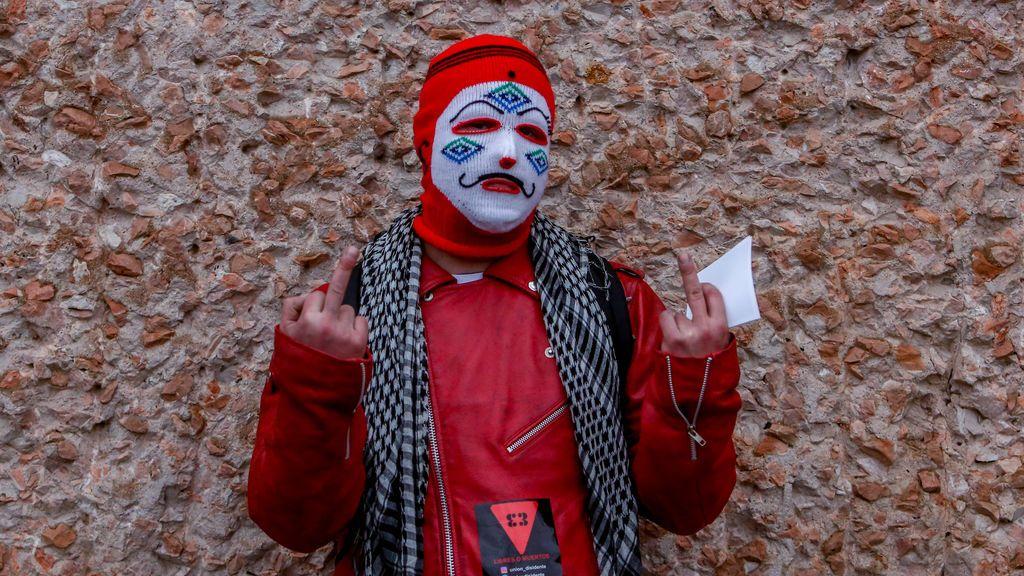 La Policía puso 216 multas a los participantes de la marcha negacionista de este sábado en Madrid