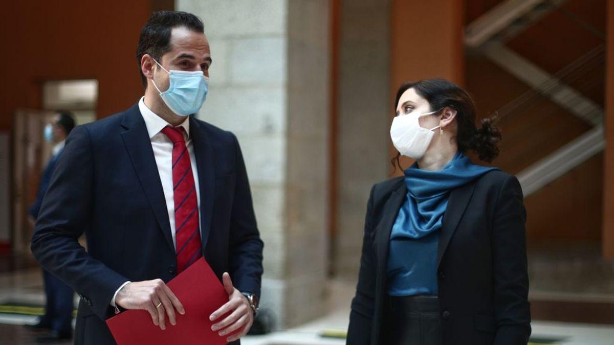 El vicepresidente de la Comunidad, Ignacio Aguado y la presidenta de la Comunidad de Madrid, Isabel Díaz Ayuso