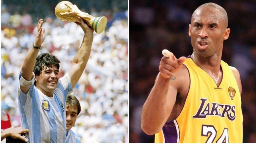 El día que Kobe Bryant cumplió uno de su sueños: conocer a Maradona