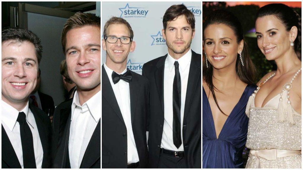 ¡Son uña y carne!: Brad Pitt, Ashton Kutcher y otros famosos que mantienen una buenísima relación con sus hermanos.