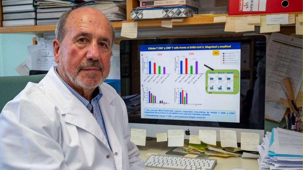 """Mariano Esteban, virólogo del CSIC: """"Con nuestra vacuna logramos una respuesta inmunitaria más potente y duradera"""""""