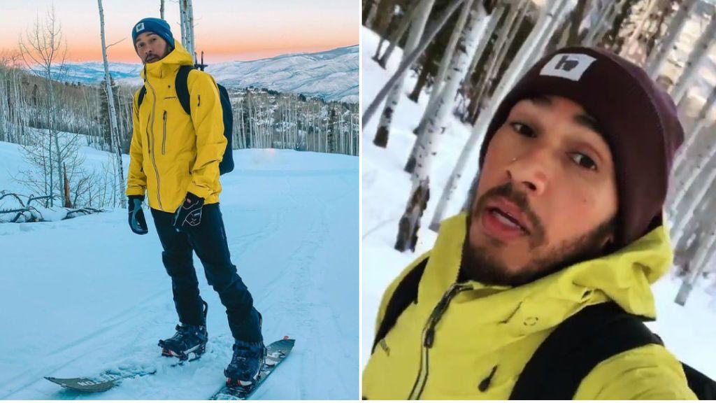 El secreto de Lewis Hamilton para cultivar cuerpo y mente: sube todos los días una montaña nevada a -16º