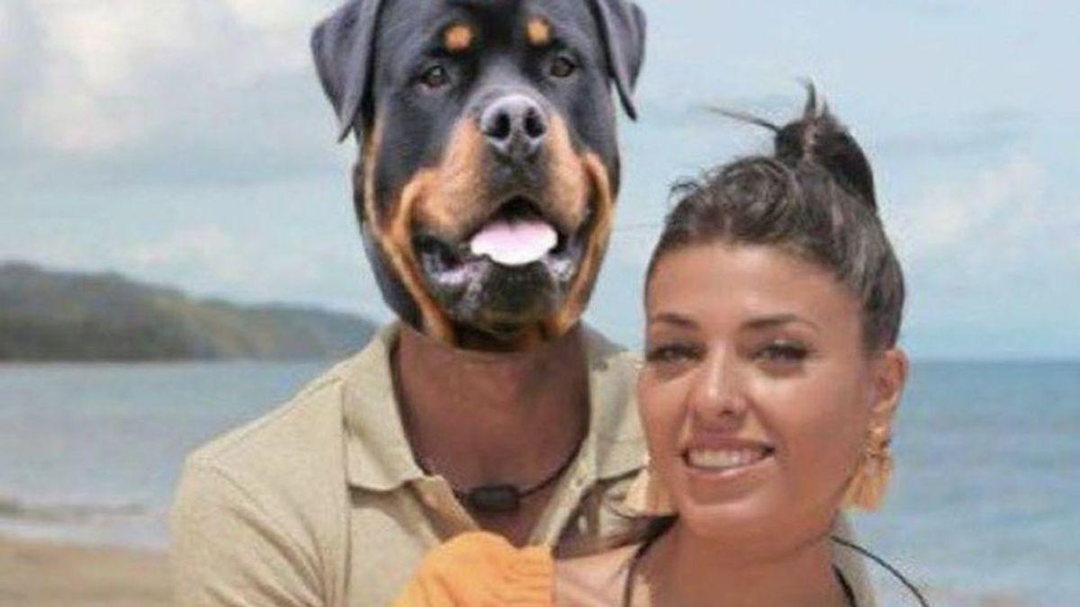 Lola, con su perro Horus