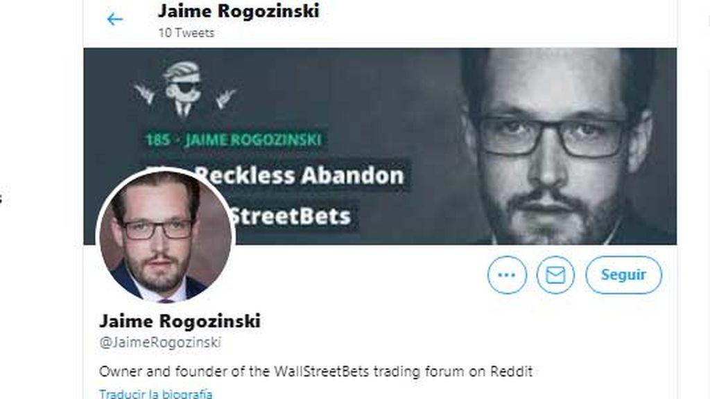 Jaime Rogozinski, creador de WallStreetBets