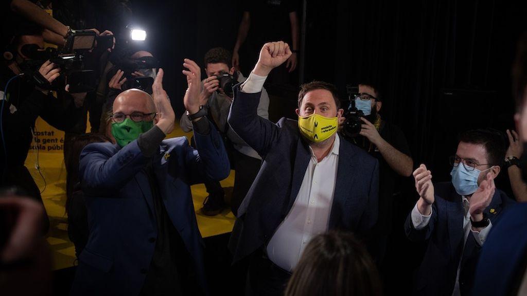 """Junqueras y Romeva reaparecen en la campaña de ERC: """"Si ya lo dimos todo, esta vez lo daremos todo y más"""""""