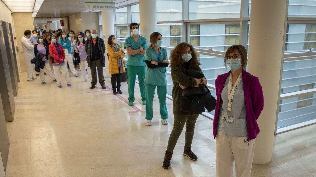 Vacunación en el Hospital Gregorio Marañón