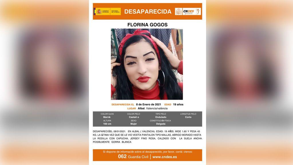 Un cazador encuentra el cadáver de Florina Gogos en Valencia, una joven desaparecida hace días en Albal
